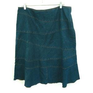 NWT! Style & Co. Denim Folkluxe Midi Skirt